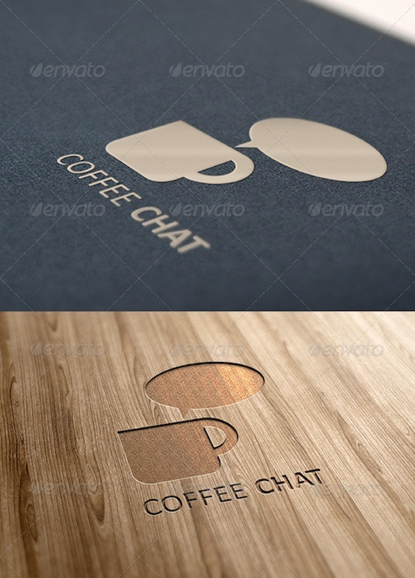 Coffee Chat Logo - Objects Logo Templates