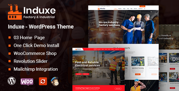 Download Induxe - Factory and Industry WordPress Theme v1.0.0 nulled