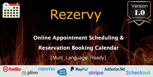 Share Rezervy - Online Appointment Scheduling & Reservation Booking Calendar