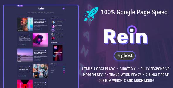 Rein - Minimal Dark Theme for Ghost
