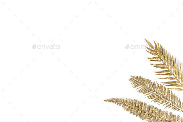Golden branches, decoration for the background, postcards, poste - Stock Photo - Images