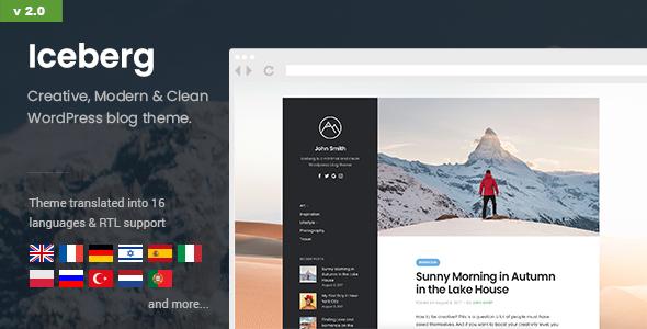 Iceberg - Simple & Minimal Personal Wordpress Blog Theme