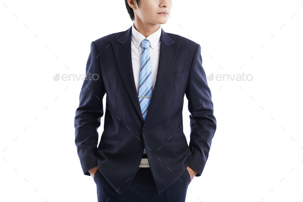 Confident young businessman - Stock Photo - Images