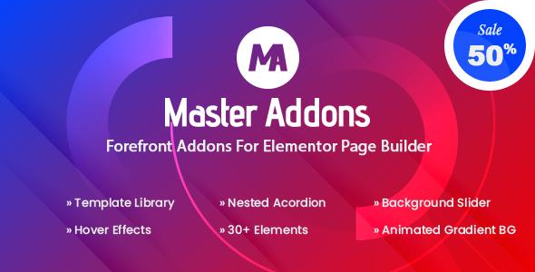 Download Master Addons - Forefront Addons for Elementor v1.1.9 nulled