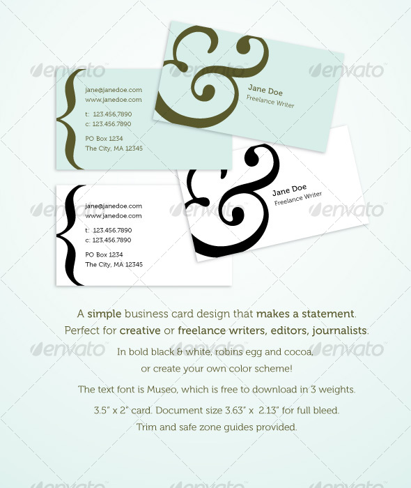 Bold, elegant business card - Industry Specific Business Cards