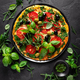 Pizza. Traditional italian pizza with green basil pesto sauce - PhotoDune Item for Sale
