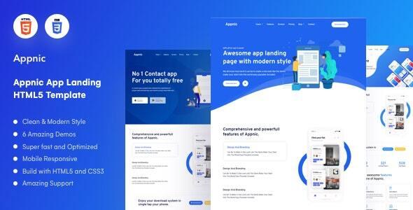 Appnic - App Landing Page