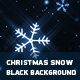 Christmas Snow With Black Background - VideoHive Item for Sale