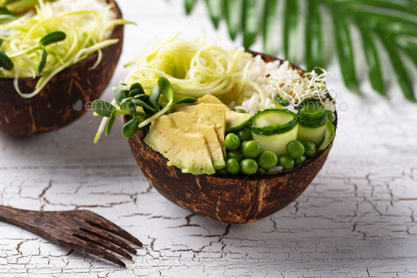 Vegan buddha bowl with vegetables - Stock Photo - Images