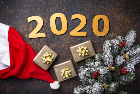 Christmas New Year 2020 background - Stock Photo - Images