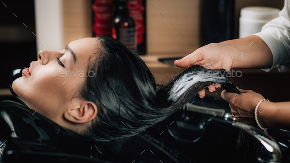 Hair treatment in Beauty Salon - Stock Photo - Images