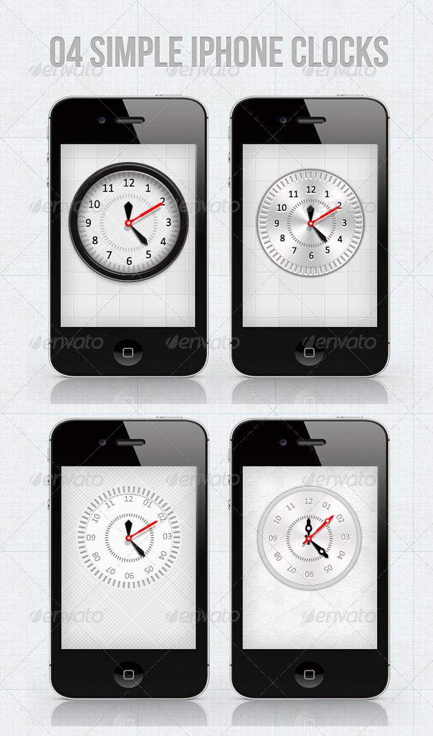 iPhone Clocks For Your Applications - User Interfaces Web Elements