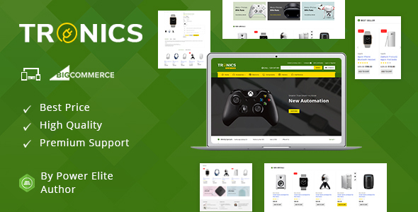 Tronics - Multipurpose Stencil BigCommerce Theme