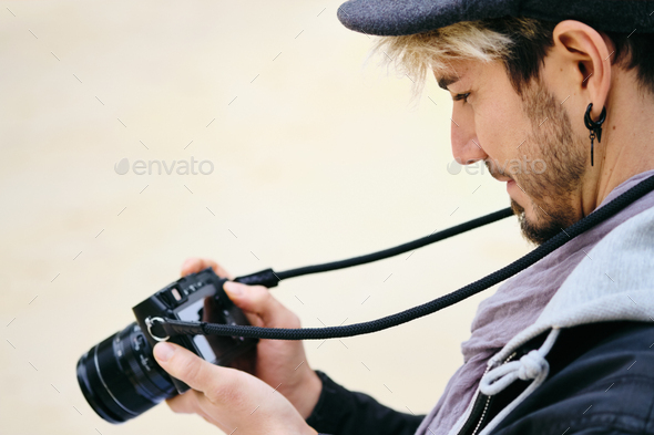 Hipster Street Photographer - Stock Photo - Images