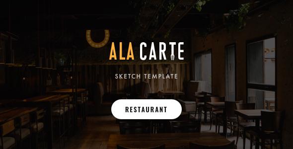Alacarte - Restaurant & Cafe Sketch Template by SpyroPress