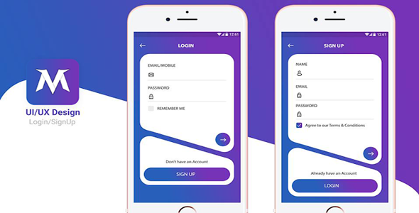 Download Android Login Design Template