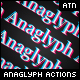 Anaglyph actions - GraphicRiver Item for Sale