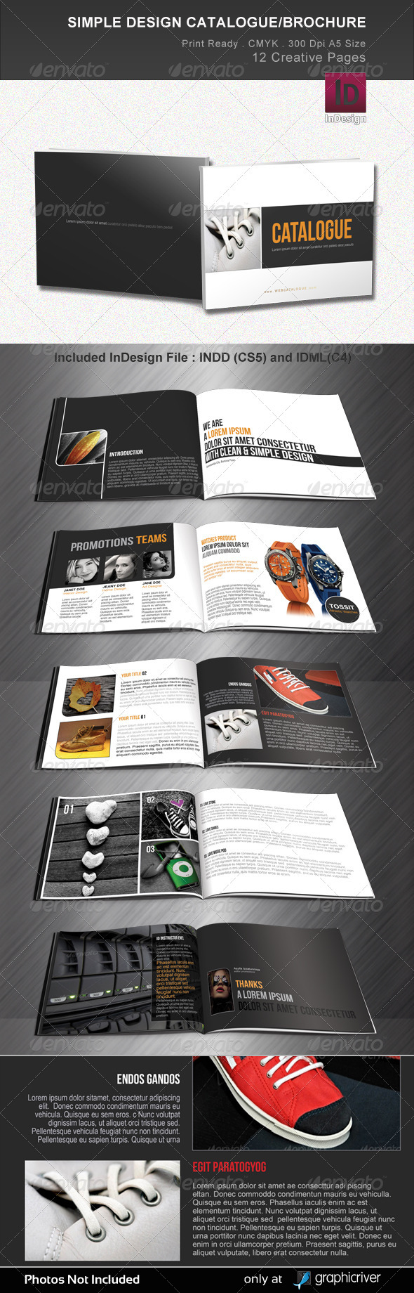 Simple Design Catalogue/Brochure - Brochures Print Templates
