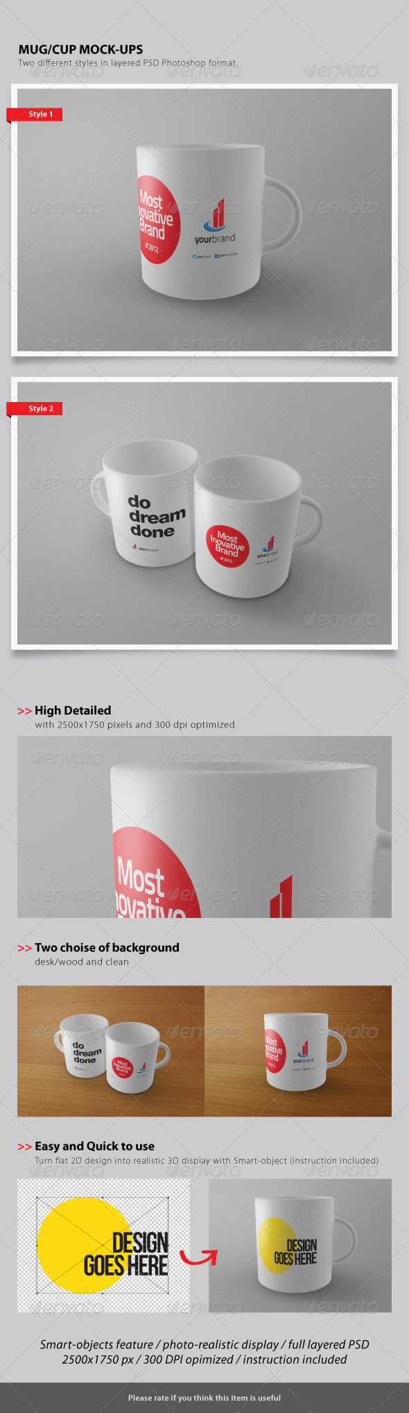 Cup / Mug Mock-ups - Food and Drink Packaging