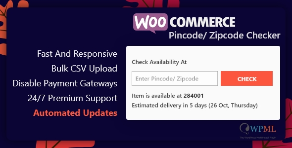 Download WooCommerce Pincode/ Zipcode Checker nulled