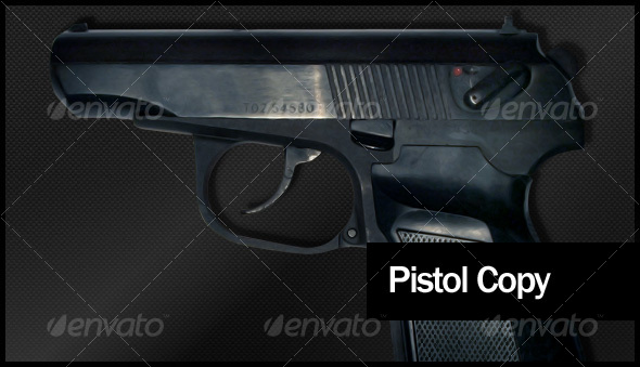 Real Pistol Model - Industrial & Science Isolated Objects