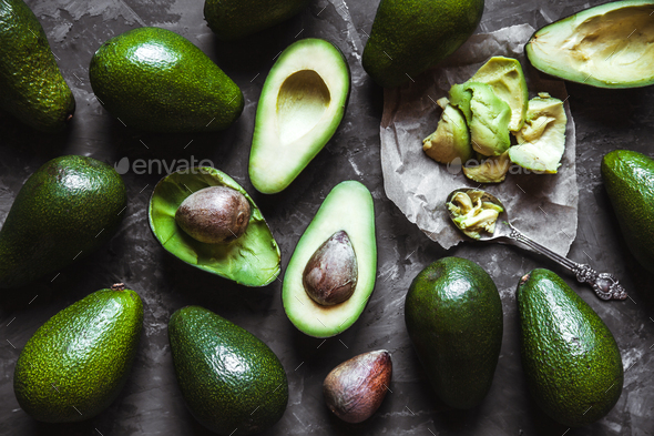 Avocado. Food on the table - Stock Photo - Images