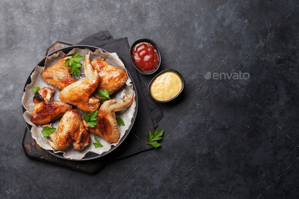Hot chicken wings - Stock Photo - Images