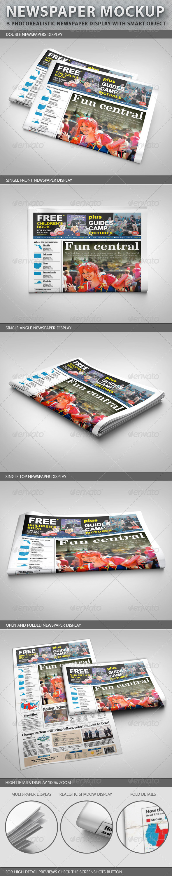 Newspaper Display Mockup - Miscellaneous Print