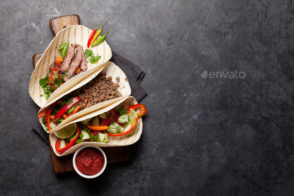 Mexican tacos - Stock Photo - Images