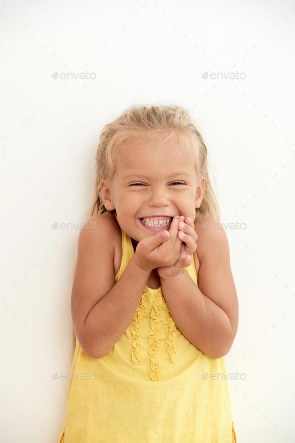 Joyful excited girl - Stock Photo - Images