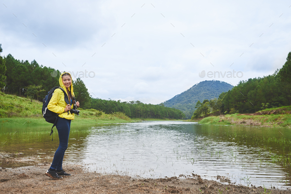 Lovely hiking woman - Stock Photo - Images