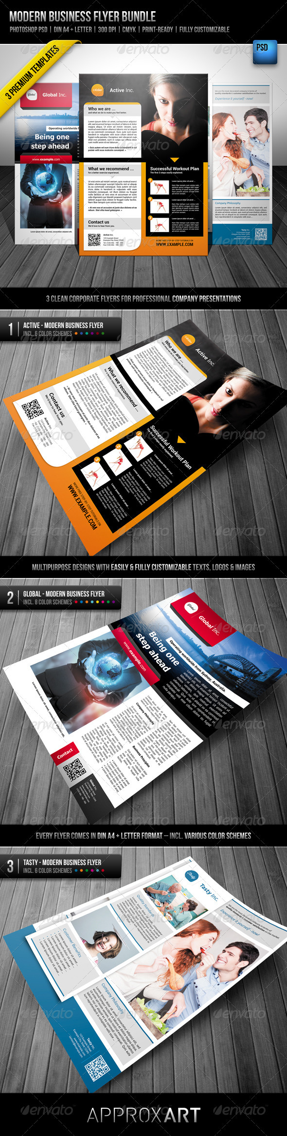 Modern Business Flyer Bundle - Corporate Flyers