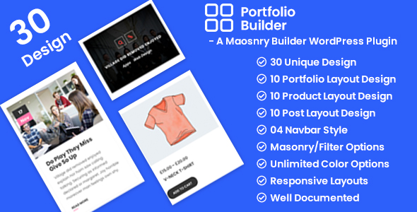 Portfolio - Post/Product/Portfolio Masonry Filter WordPress Plugin nulled