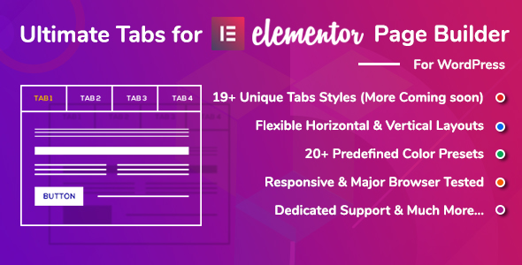 Download Ultimate Tabs - Addon for Elementor Page Builder WordPress Plugin nulled