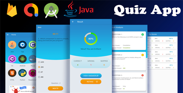 Android Quiz App Template with Firebase and AdMob