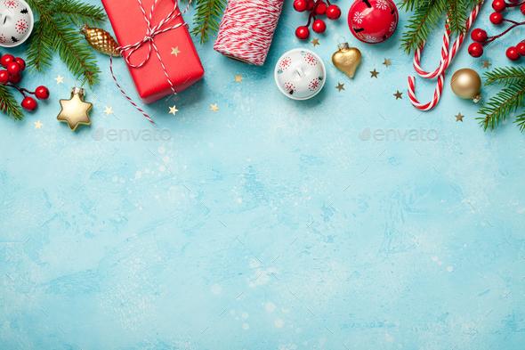 Christmas decorations  background - Stock Photo - Images