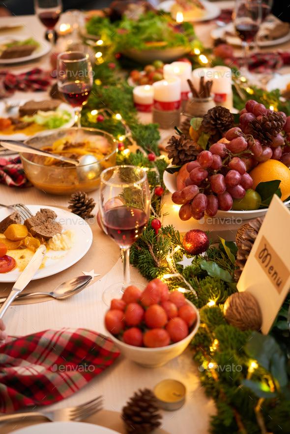 Served family dinner - Stock Photo - Images