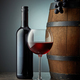glass and bottle of red wine - PhotoDune Item for Sale