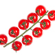 top view of twig of red Cherry tomatoes isolated - PhotoDune Item for Sale
