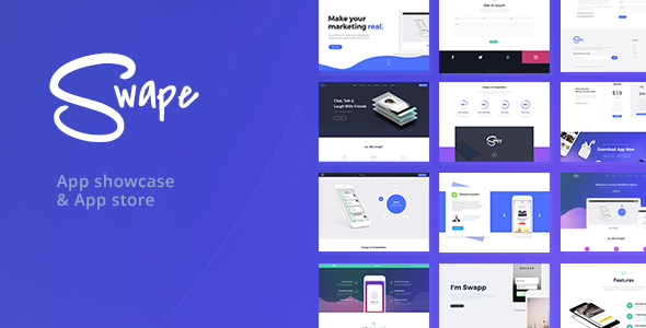 Swape - App Showcase & App Store WordPress Theme