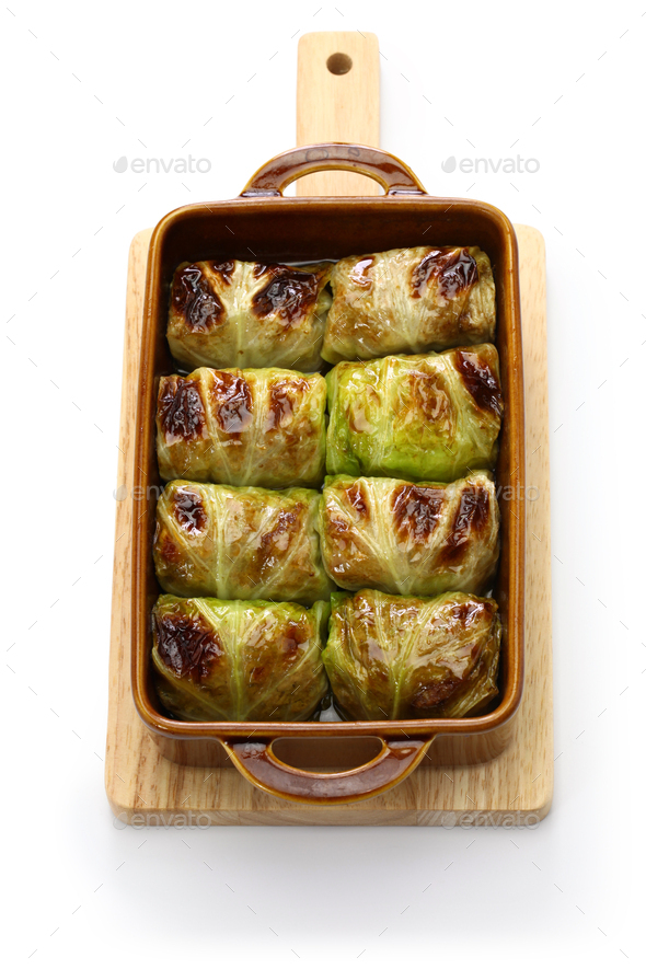 finnish baked cabbage rolls - Stock Photo - Images