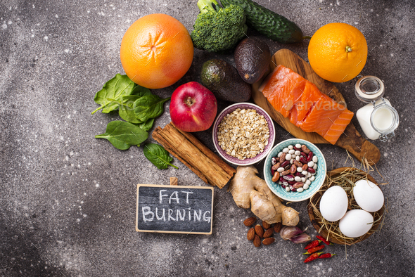 Fat burning products for weight losing - Stock Photo - Images
