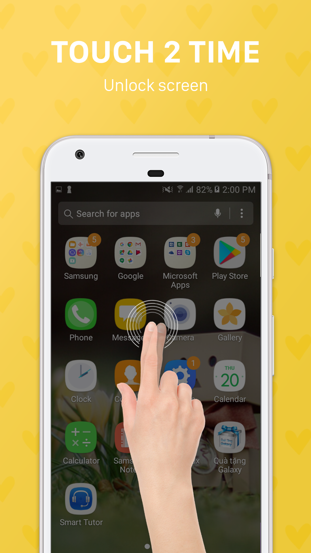 Smart screen on and off - Double tap to unlock by ...