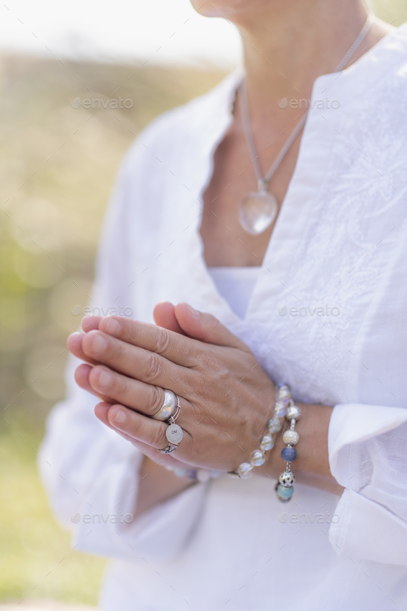 Mindfulness Practice, Increasing Positive Energy, Hand Gesture - Stock Photo - Images