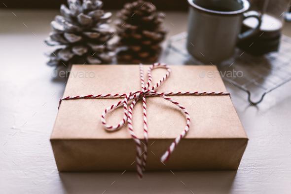 Christmas gift - Stock Photo - Images