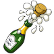 Popping Champagne Cork and Pouring