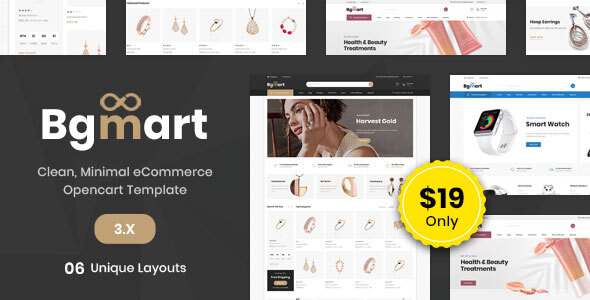 Bgmart Multipurpose - Responsive Opencart 3.0 Theme