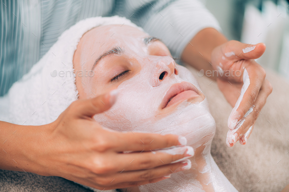 Rejuvenating Facial Skin Mask Treatment - Stock Photo - Images