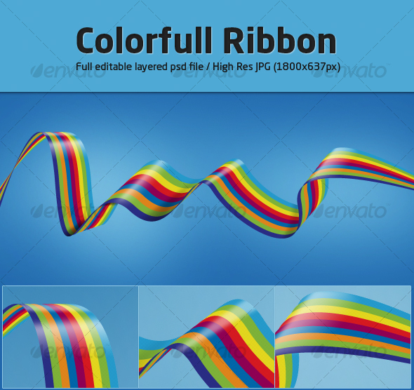 Colorfull Ribbon - Abstract Illustrations