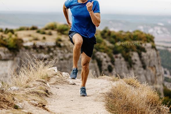 run mountain trail - Stock Photo - Images